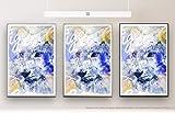 White Tiger 90x60cm auf Masterclass Metallic Pearl High Gloss Photo Paper Inklusive Aluminium Wechselrahmen Schwarz mit Glas und Rückwand fertig gerahmt