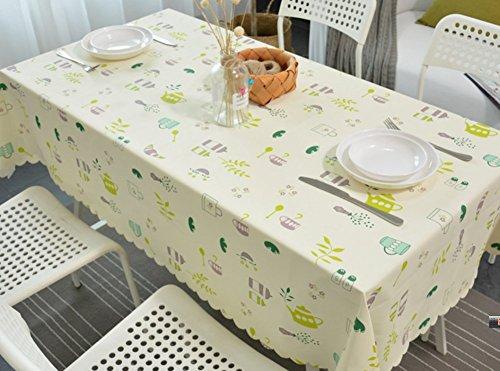 ZXYLe Nouveau ménage Nappe imperméable Treillis Table Tissu PVC Table Basse Maison Vie décoration Bureau Polyvalent Couvre Tissu Chiffon à poussière,A,120 * 120cm