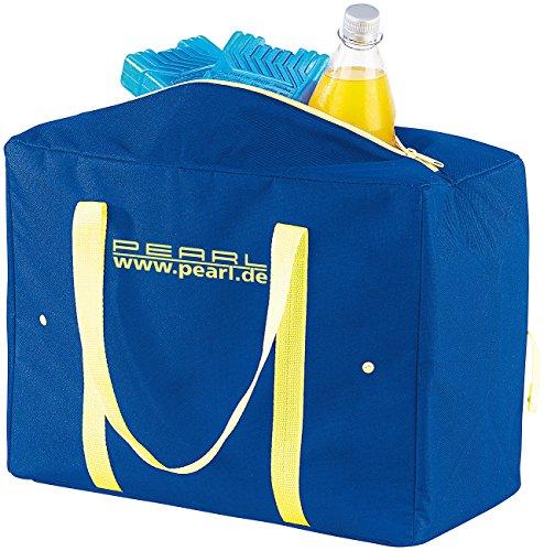 PEARL Größenverstellbare Nylon-Kühltasche 4-21 Liter, EPE-isoliert, faltbar (Isolierte Schaum Flasche)