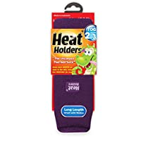 Childrens Thermal Heat Holder Socks All Colours 2-5.5 Age 8 Years + (Purple)