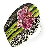 Design Toilettendeckel Sitz Absenk-Automatik Motiv Orchidee