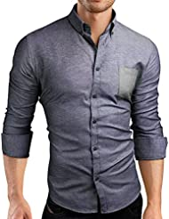 Grin&Bear coupe slim chemise homme, SH00513