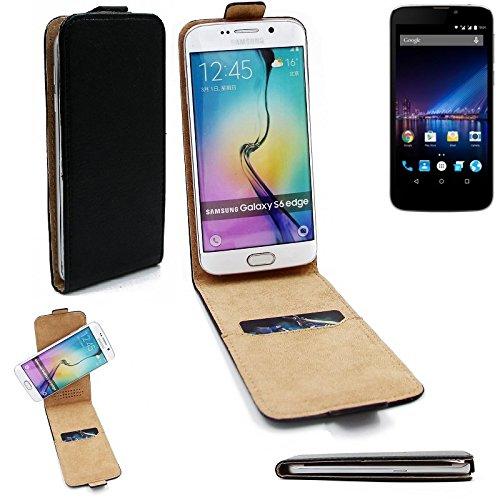 K-S-Trade Für Phicomm Clue 2S Flipstyle Schutz Hülle 360° Smartphone Tasche, schwarz, Case Flip Cover für Phicomm Clue 2S