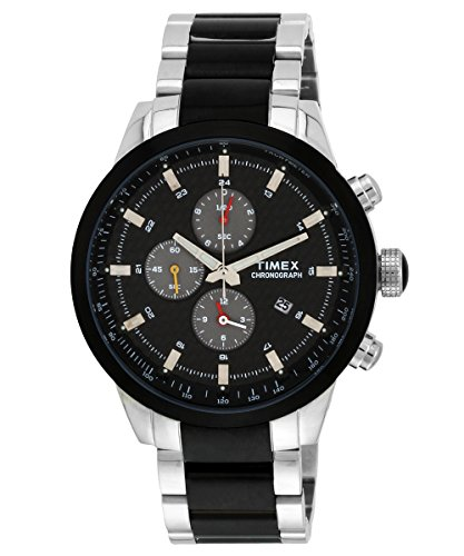 Timex E-Class Chronograph Black Dial Men's Watch - TW000Y405