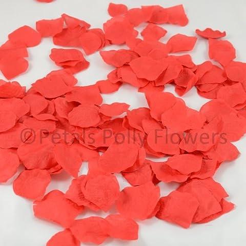 1000/soie rouge Pétales de rose artificielles, Confettis de mariage