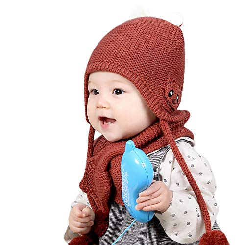 7cd38b9d6a6 Chapeau Enfant ADESHOP Mode Enfants GarçOn Fille d hiver Chaud Couleur Unie  Chapeau éCharpe BéBé