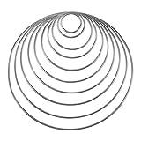 10 Stück Metallringe Handwerk Metall Hoops für Dream Catcher, 10 Größen