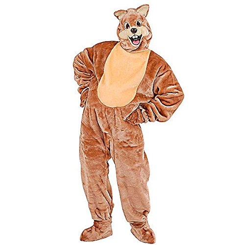 Mens Plush Squirrel Costume for Animal Jungle Farm Fancy Dress