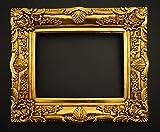 Prunk Bilderrahmen Antik Gold 60x50/ 30x40 cm (Vintage) Im Retro-Vintage look durch Handarbeit hergestellt für Künstler, Maler. Idealer Gemälde-Rahmen Barockrahmen für Ausstellungen STAR-LINE® -