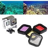 Galleria fotografica Asiv ASIV Dive e Scuba Filtro (Rossa + Giallo + Magenta + Grigio ) Set di Accessori per GoPro Hero 4 / 3+ (4 Pack)
