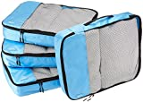 AmazonBasics Packing Cubes/Travel Pouch/Travel Organizer- Large, Sky Blue