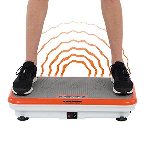 Vibro Shaper Vibrationsplatte Ganzkörper Trainingsgerät rutschfest große Fläche inkl Trainingsbänder Ernährungsplan das Original von Mediashop - 3