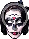 Onlyglobal Adulte Unisexe Déguisement Halloween Fête Festival Day Of The Dead Carte Masque Taille Unique - Espagnol Lady, One Size