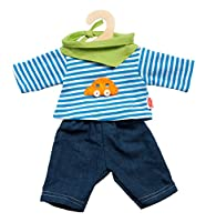 Heless 2315 - Unisex Baby Kostüm Jeans mit gestreiftem Hemd, 35-45 cm