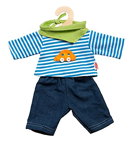 Heless 2315 - Unisex Baby Kostüm Jeans mit gestreiftem Hemd, 35-45 cm (Duo Kostüme Ideen)