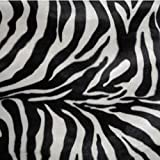 kissenwelt.de Kunstpelz Meterware Zebra, T6