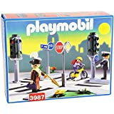 City Life 3987: Encrucijada con Semáforos - Playmobil