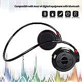 Ecouteurs de Course Ecouteurs Sport sans Fil Bluetooth Ecouteurs Supra-Auriculaires sur Casque sans Fil Bluetooth avec Microphone Anti-Transpiration, Hi-FI stéréo, 6 Heures