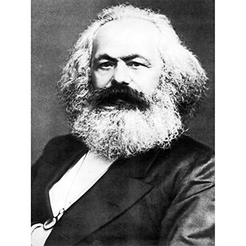 Portrait Political Theorist Philosopher Karl Marx Old Photo Art Print Canvas Premium Wall Decor Poster Mural Porträt Politisch Fotografieren Wand Deko - Art Canvas Print