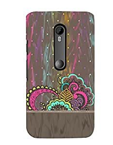 Citydreamz Traditional Rangoli Design/Floral Design/Beautiful Texture Print/Abstract Hard Polycarbonate Designer Back Case Cover For Motorola Moto X Style (Moto XS)