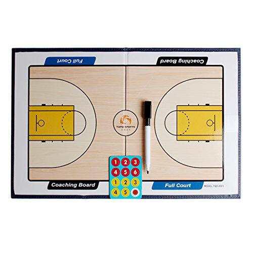 Andux Zone Basketball / Fußball Coaches Taktiktafel Coach board mit Stifte Radiergummi Magneten ZUB-01 (Basketball Taktikboards) (Coach-board Basketball)