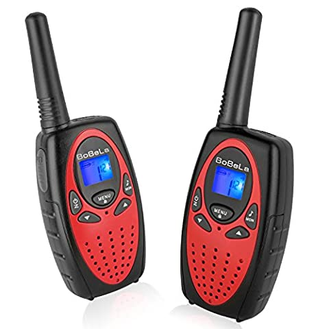 Bobela M880 Easy to use Two Way Radio Transceiver Walkie Talkies Toy and Best Festival and Christmas Gift for Kids to Wedding, Fishing,Cruise ship and Other Outdoor Activities(Red, 1
