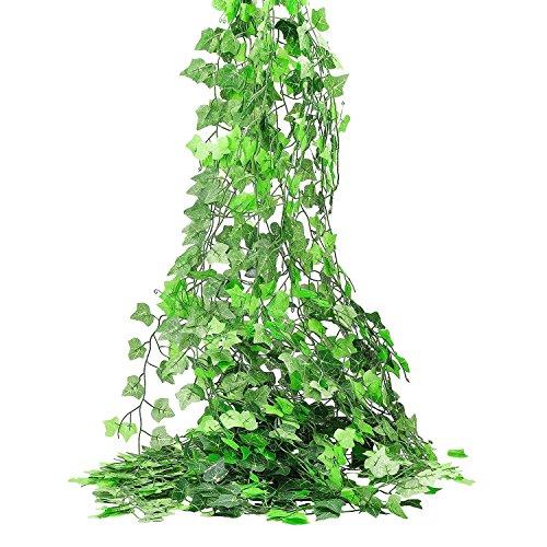 6 füße Künstliche Grünpflanzen Blätter Grün Fake Efeu Blätter Garland Home Garten Wand Dekoration (Fake-efeu-blätter)
