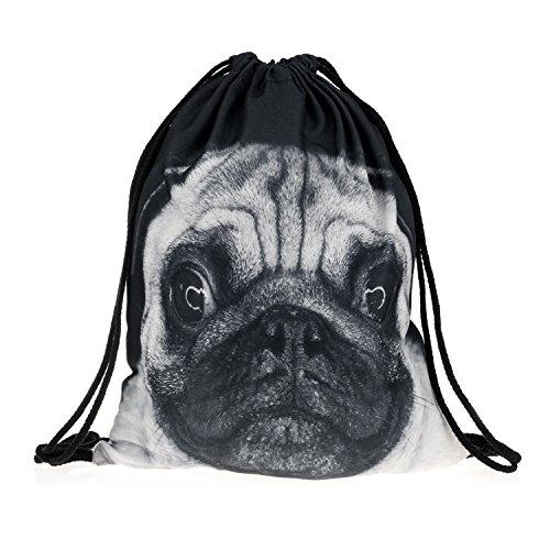 Imagen de fullprint hombres de las mujeres del cordón bolsa kids bolsa teenage hombro escuela   bolso de mano cadena de viaje gimnasio multicolor perro talla única 40 cm