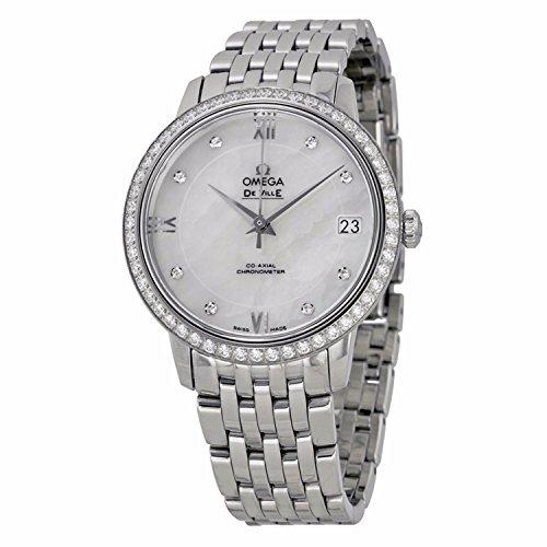 Omega donna de Ville in acciaio & di zaffiro Quadrante automatico mop Watch 424.15.33.20.55.001