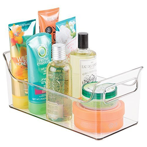 mDesign - Organizador integral para el cuarto de baño; guarda champú, acondicionador, jabón - Claro