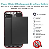 Solar Charger, BERNET 24000mAh Portable Solar Power Bank with 2 Input Ports(Lighting & Micro), 3 High Speed Output and USB Fan External Battery Pack for iPhone, Samsung Galaxy, iPad, GoPro Camera, GPS and More-Red