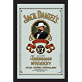 Empireposter - Jack Daniels - Retro 3 - Größe (cm), ca. 20x30 - Bedruckter Spiegel Bedruckter Wandspiegel mit schwarzem Kunststoffrahmen in Holzoptik