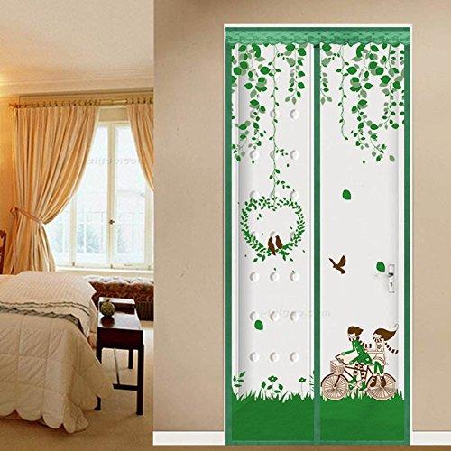 Magnetisch Türen für häuser bildschirm,Türen mit magneten bildschirm Velcro magnetische tür siebgewebe Der moskito Tür vorhang Magnetstreifen-schließung Sommer Schlafzimmer-E 70x200cm(28x79inch)