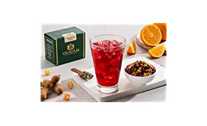 VAHDAM, Tangy Tamarind Iced Tea | 40 Servings, 8 Quarts | 100% Natural Ingredients | Delicious Flavor of Tamarind & Exotic Tropical Fruits | Herbal Iced Tea | Iced Tea Loose Leaf | 3.53oz (Set of 2)