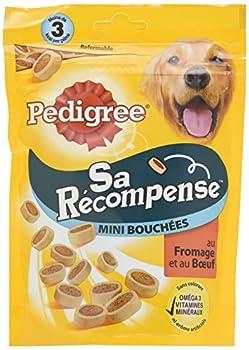 Pedigree Sa Récompense Mini Bouchées B½uf/Fromage pour Chien 6 Sachets de 140 g