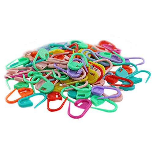 100pcs Knitting Mix Color Craft Crochet Locking Stitch Needle Clip