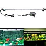 SUBOSI 62CM Aquarium Beleuchtung Licht Unterwasser Fisch Tank Lichter Aquariumleuchte 33LED SMD5050 Weiß Wasserdicht IP67 8W Aquarienbeleuchtung