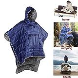 Honcho Poncho - Sudadera con capucha y ponible para la ropa de abrigo - Saco de dormir de camping de...