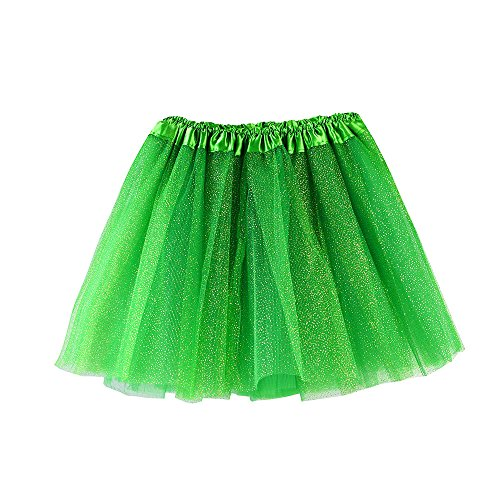 HUIHUI Mädchen Tütü Rock Petticoat Tüllrock Ballkleid Abendkleid Ballettrock Perfekt für Fasching rosenmontag 2019 (3-8 Jahre, Grün ()