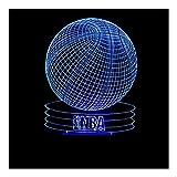 ZDVHM 3D Illusion Nachtlampe 3D-Illusion Lampen Kreative NBA Basketball LED-Nachtlicht 7 Farben USB-Touch-Schreibtischlampe for Fans Freunde Kinder Weihnachten Geburtstag Spielzeug