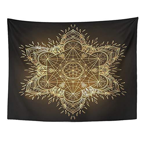 Emvency Mandala - Tapiz Redondo diseño Mandala 60