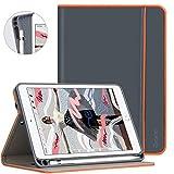 Ztotop Hülle für iPad Mini 5 mit Stifthalter,Premium PU leder Leichte Ständer Schutzhülle Case für iPad Mini 5 2019 Tablet,mit Auto Schlaf/Wach Funktion & Pencil Steckplatz,Mehrfachwinkel,Dunkelgrau