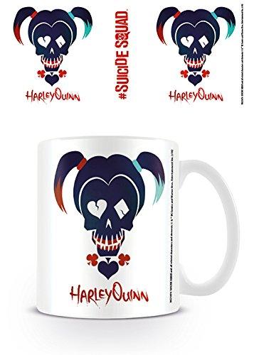 DC Comics MG23876 Suicide Squad (Harley Quinn Skull) Mug Céramique, Multicolore, 11oz/315ml