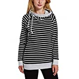 YunPeng Women's Striped Hooded Sweatshirts Side Zipper Drawstring Slim Pullover Hoodies Tops