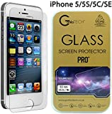 Apple iPhone SE iPhone 5S iPhone 5C and iPhone 5 Gorilla Tech ® Premium Tempered Glass Screen Protector Invisible Shield HD Cover 9H Hardness Crystal Clear HD Quality Shatter & Scratch Resistant