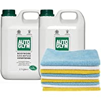 Autoglym Bodywork Shampoo Conditioner (2 X 2.5L)+ Pack of 24 Microfibre Cleaning Cloths preiswert