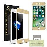 iPhone 7 Plus Pellicola Protettiva, AKPATI Temperato di Protezione in Vetro Dello Schermo 4D Toccare Alta Definizione Anti-Explosion Schermo Protezione (5.5 Pollice) – Oro