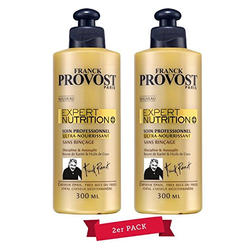 Franck Provost Expert Nutrition + Kur per capelli professionale, (2x 300ml), confezione da 2, nuovo