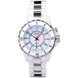 Ohsen 7 Colours Flash Light Lady Men Sport Quartz Watch