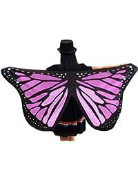 Canela mariposas, chal para alas hada ninfa Pixie de mujer para disfraz, 145x 65cm